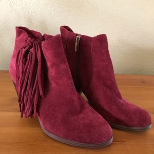 Vince Camuto Ankle Boot Harlin Chianti Red Suede